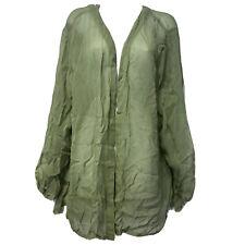 Marisol sheer long sleeve open front blouse Bathing Suit Swim Cover plus size 2X