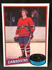 1980-81 TOPPS HOCKEY PIERRE MONDOU CARD #42 MONTREAL CANADIENS NMT-NMT/MT