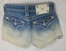 Miss Me Short Low Rise Stretch Buckle Girls Denim Shorts 10 x 2.5 JK5014H85