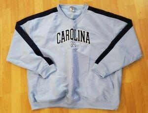 Knights Apparel UNC North Carolina Tar Heels Jacket Mens Pullover Windbreaker XL