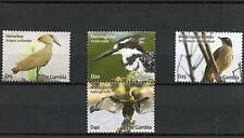 Gambia 2009 MNH Birds 4v Set Hamerkop Kingfisher Babbler African Darter Stamps