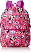 "Disney Little Girls Minnie Mouse Print 16"" inches Backpack New/Tag Licensed"
