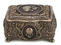 5.5 Inch Skull Brooch Trinket Box Santa Muerte Jewelry Box Holy Death