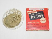 VINTAGE FISHING NEWTON'S No. 1 F STREAMLINE  PERFECT OIL FINISH FLY LINE IN BOX