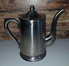 """Big Stainless Steel Tea Maker Pot Kettle Brand Ware 9"""" tall"""