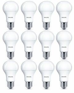 12x Philips 5.5W = 40W CorePro LED GLS A60 ES / E27 Warm White 2700k Opal Bulb