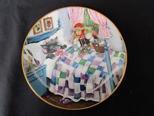 Little Red Riding Hood and The Big Bad Wolf  Collector Plate  -    Bradex