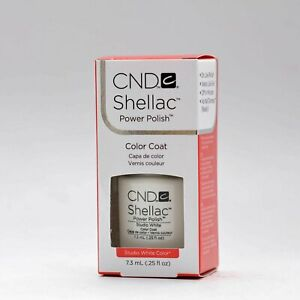 Creative Nail Design Shellac UV Color Coat Studio White .25oz