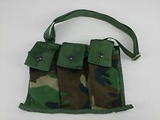 US Military MOLLE II 6 Mag 5.56 Woodland Camo Bandoleer Ammo Pouch