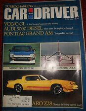 Car and Driver Magazine - 8 Piece Lot - '80 & '81