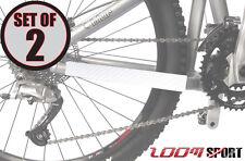Zoom Sport Chain Stay Protettore telaio della bicicletta Guard (Set di 2), carbonio bianco