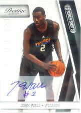 2010-11 Prestige John Wall SP Bonus Shots Rookie Auto Autograph # 66 / 99