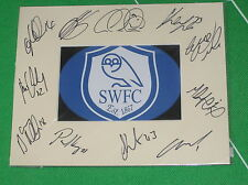 Sheffield Wednesday FC Mount Multi-Signed x Eleven 2012/2013 First Team Squad