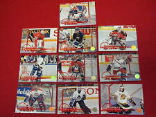 1994 Leaf Crease Patrol hockey card set   10 cards   Roy Brodeur Hasek Belfour