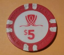 WYNN HOTEL CASINO LAS VEGAS, NEVADA $5.00 LOGO GAMING CHIP GREAT FOR COLLECTION!