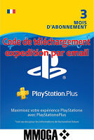 PlayStation Plus abonnement de 3 mois 90 jours PSN Compte français PS3 PS4 - FR
