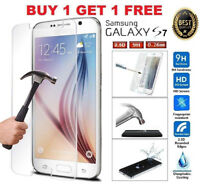 For Samsung Galaxy s7 tempered glass full screen LED protector Front Cover 9H UK