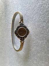 VINTAGE GOLD TONE LADIES WOMEN'S WATCH - KEEPS PERFECT TIME NEW BATTERY! 5-7W3