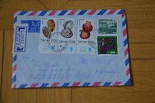 1 Brief Einschreiben aus Israel aus Tel Aviv 1978 Muscheln Tiere Meer Ozean