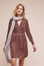 NWT Anthropologie Velvet Shirtdress Dress by Holding Horses Size Large Petite