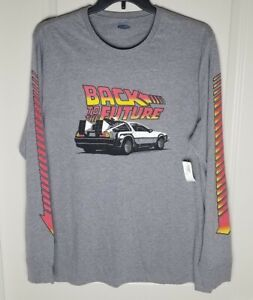 Old Navy Back to the Future men's long sleeve graphic shirt sz XXL greay New!