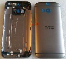 Original Backcover Akkudeckel Gehäuse Cover Deckel Schale Grau Grey HTC One M8