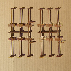 NEW ~ 12 Classic TELEPHONE POLES by ATLAS ~ Mayhayred Trains N Scale Lot