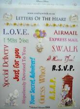 Rub On Stickers Letters of the Heart Words & Pictures