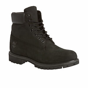 Timberland 6in Premium Mens Boots - Black Nubuck All Sizes