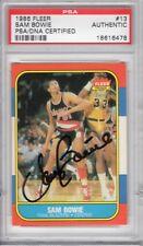 Sam Bowie Portland Trail Blazers 1986 Fleer #13 Signed AUTOGRAPH PSA DNA