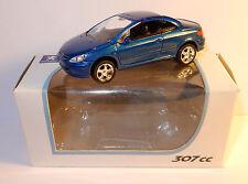 NOREV 3 INCHES 1/54 PEUGEOT 307 CC BLEU FONCE METAL 150 CV 220 KM/H IN BOX