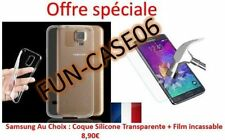 Film Verre Trempé + Coque Silicone Transparente Samsung Galaxy Note 5