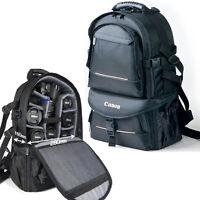 DSLR SLR Professional Camera Backpack Bag Rain Cover Padded Travel Rucksack New