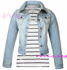 NEW DENIM JACKET Womens Jean Jackets LADIES Waistcoat Size 8 10 12 14 16 BLOOM
