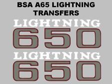 BSA A65 Eclairage 1971 Panneau Latéral Transferts Stickers Paire pour Moto