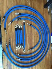 EZGO TXT PDS 36V 2 Gauge Welding Wire Blue Battery Cable HD Tinned Copper Lugs