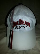 Jim Beam Racing Bobby Gordon NASCAR Adjustable Hat #7 Cap White Mesh Style NWOT