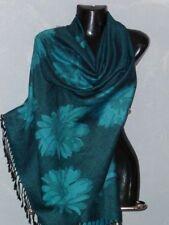 foulard écharpe étole scarf shawl pashmina laine soie wool silk neuf 180x70cm