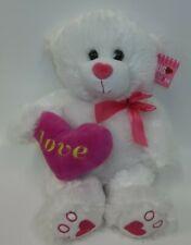 Hug Me White Plush Valentine Love Bear Toy Doll