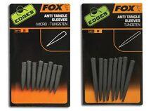 Fox NEW Carp Fishing Edges Anti Tangle Sleeves Trans Khaki & Tungsten *All Sizes