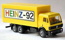 Mercedes Benz SK 2achs Koffer-Lkw HEINZ-92 Mercedes-Werbemodell 1:87 Herpa