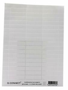 Q-Connect Suspension File Card Inserts White 51 Labels On 1 Page