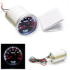 12VDC Metal& Plastic 2'' 52MM Car Digital Motor LED Tachometer Tacho Gauge Meter