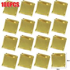 100 x Pure 24K Edible Gold Leaf Sheets Baking Art Pastry Decorating Foil Paper