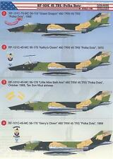 "Print Scale Decals 1/48 RF-101C VOODOO 45th TRS ""Polka Dots"" in Vietnam"