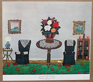 Horace Pippin Victorian Interior Vintage Original 1960 1st Print Ltd Ed Litho