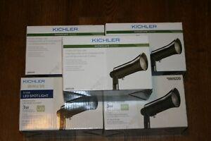 6X Kichler 3-Watt (25 W Equivalent) Olde Bronze Low Voltage  LED Spot Light 12v