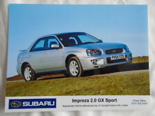Subaru Impreza 2.0 GX Press Photo 2004