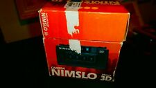 Nimslo 3d Quadra Lens 35mm Camera Untested with Flash Original Boxes and Manuals