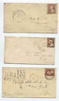 3 3ct 1851-7 issue covers #11, #25 and #26 [y3857]